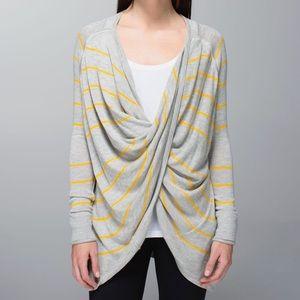 Lululemon Twist & Wrap Pop Stripe Sweater Wrap